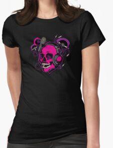 Karaoke Skull! Womens Fitted T-Shirt