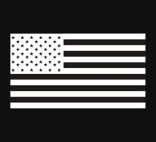 American Flag, America, Americana, NEGATIVE on black, Stars & Stripes, Pure & Simple, USA Kids Clothes