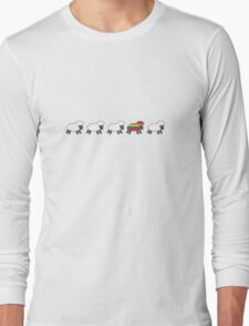 Be the Rainbow Sheep! Long Sleeve T-Shirt