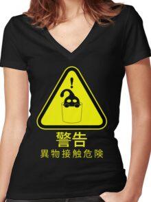 Suu Hazard Sign (Japanese version, for dark backgrounds) Women's Fitted V-Neck T-Shirt