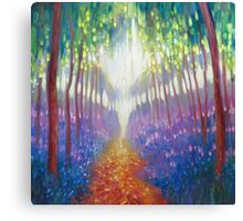 Bluebell Path To Somewhere Wonderful Canvas Print