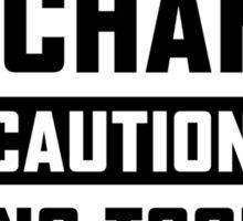 Diesel Mechanic Caution Sticker