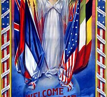 Welcome home our gallant boys Poster 1918 Restored by Carsten Reisinger
