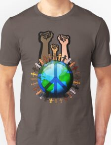 Unity And Peace - Raised Fists! T-Shirt
