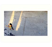 Street cricket Art Print