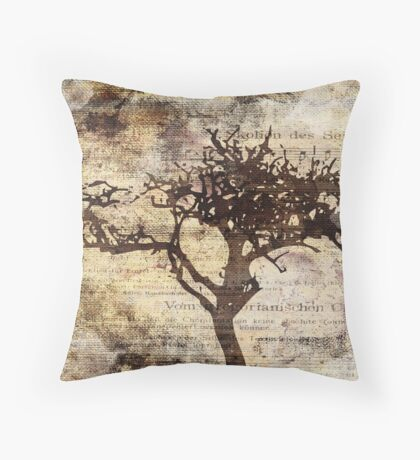 Trees sing of Time - Vintage 3 Throw Pillow