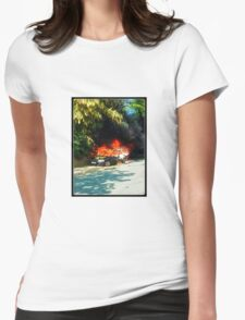 Explosive Car Bomb Womens Fitted T-Shirt