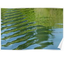 Ripples - green/blue Poster