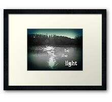 when the darkness began to cast its shadow... you showed me what to do Framed Print