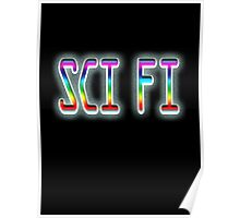 SCI FI, Science Fiction, hard SF, Soft SF, on BLACK Poster