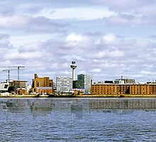 Liverpool City Skyline. (Home of LFC & EFC) Merseyside, UK by Sue Smith