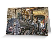 Steam Trains at Beamish Village Greeting Card