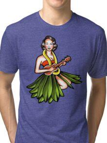 Vintage Hula Girl Tri-blend T-Shirt