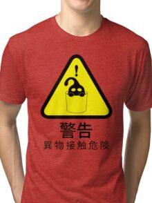 Suu Hazard Sign (Japanese version, for light backgrounds) Tri-blend T-Shirt