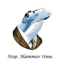 Funny stop hammer time shark parody by funnyshirts