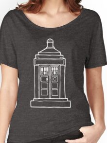 The Tardis Illustration - Doctor Who, The Doctor, BBC Women's Relaxed Fit T-Shirt