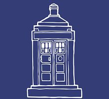 The Tardis Illustration - Doctor Who, The Doctor, BBC Unisex T-Shirt