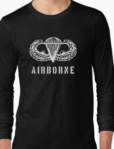 US airborne parawings - white Long Sleeve T-Shirt