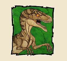 Hollywood style  vintage velociraptor by nyctherion
