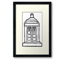 The Tardis Illustration - Doctor Who, The Doctor, BBC Framed Print