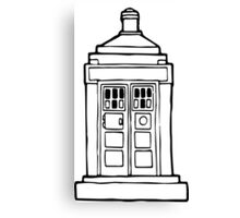 The Tardis Illustration - Doctor Who, The Doctor, BBC Canvas Print