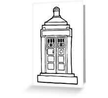 The Tardis Illustration - Doctor Who, The Doctor, BBC Greeting Card
