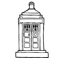 The Tardis Illustration - Doctor Who, The Doctor, BBC Photographic Print