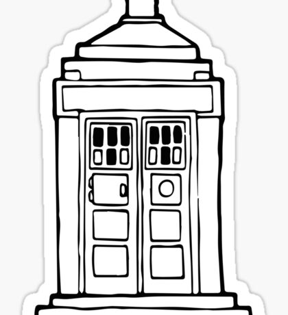 The Tardis Illustration - Doctor Who, The Doctor, BBC Sticker