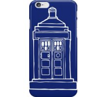 The Tardis Illustration - Doctor Who, The Doctor, BBC iPhone Case/Skin