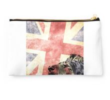Head lion with Union Jack flag Studio Pouch
