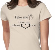 I can't help falling in love with you :) Womens Fitted T-Shirt