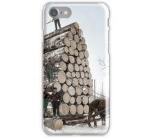 Logging, UP Michigan - 1890's iPhone Case/Skin