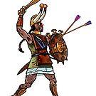 ancient sardinian warrior by sirbonessa