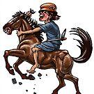 ancient sardinian rider by sirbonessa