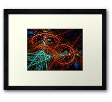 ©DA FS Orange Wave CV2DFX. Framed Print