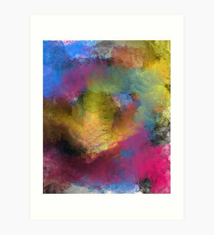 Unique Colorful Abstract Art Print