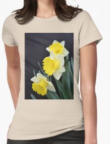 Three Daffodils Womens Fitted T-Shirt