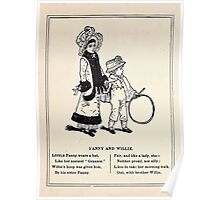 Miniature Under the Window Pictures & Rhymes for Children Kate Greenaway 1880 0050 Fanny and Willie Poster