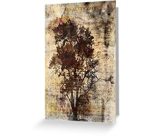 Trees sing of Time - Vintage Greeting Card