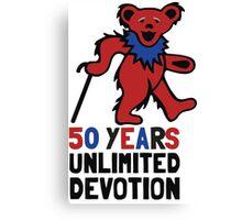 Grateful Dead 50th Anniversary - Dancing Bear - Unlimited Devotion Canvas Print