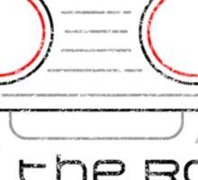 R.O.B. The Robot - Retro Minimalist - White Dirty Sticker