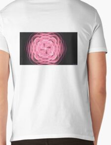 Ribbon Rose Mens V-Neck T-Shirt