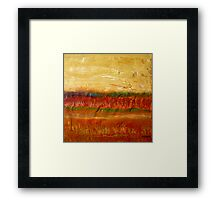 Fall colors at the end of the day, mixed media on board Framed Print