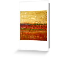 Fall colors at the end of the day, mixed media on board Greeting Card