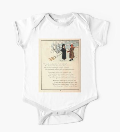 The Glad Year Round for Boys and Girls by Almira George Plympton and Kate Greenaway 1882 0052 Freezing Wind Blows One Piece - Short Sleeve