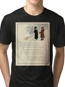 The Glad Year Round for Boys and Girls by Almira George Plympton and Kate Greenaway 1882 0052 Freezing Wind Blows Tri-blend T-Shirt