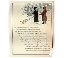 The Glad Year Round for Boys and Girls by Almira George Plympton and Kate Greenaway 1882 0052 Freezing Wind Blows Poster