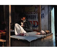 Kathmandu Butcher Photographic Print
