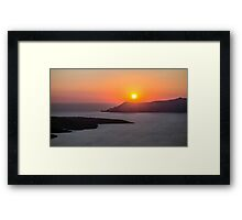 Sunset in Santorini Framed Print