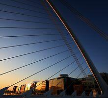 Samuel Beckett Bridge Close up at Dawn by Paul  Kane